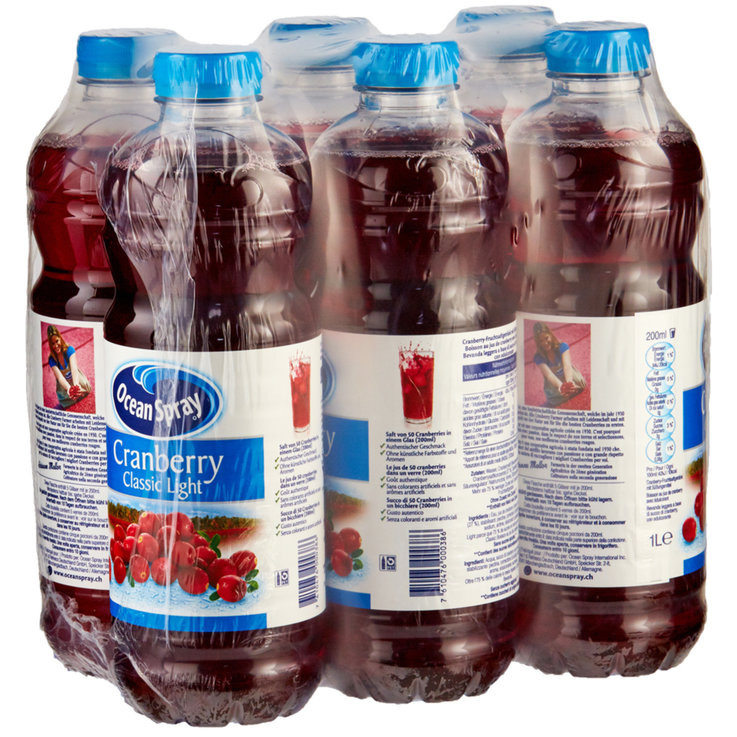 Multipacks ab 1 Liter - Ocean Spray Saft Cranberry light 6x1l
