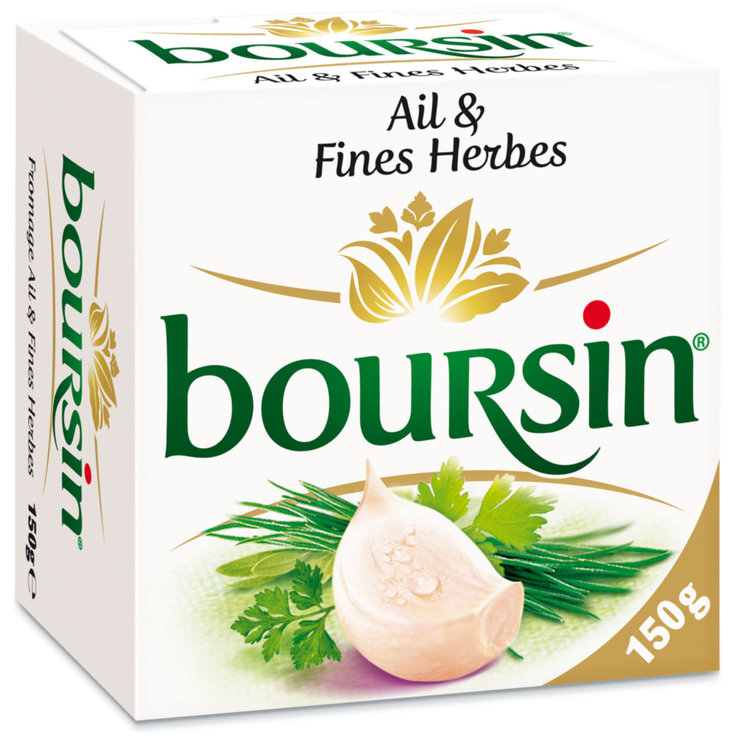Cream Cheese & Fresh Spread - Boursin Garlic & Herbs Spreadable Cheese