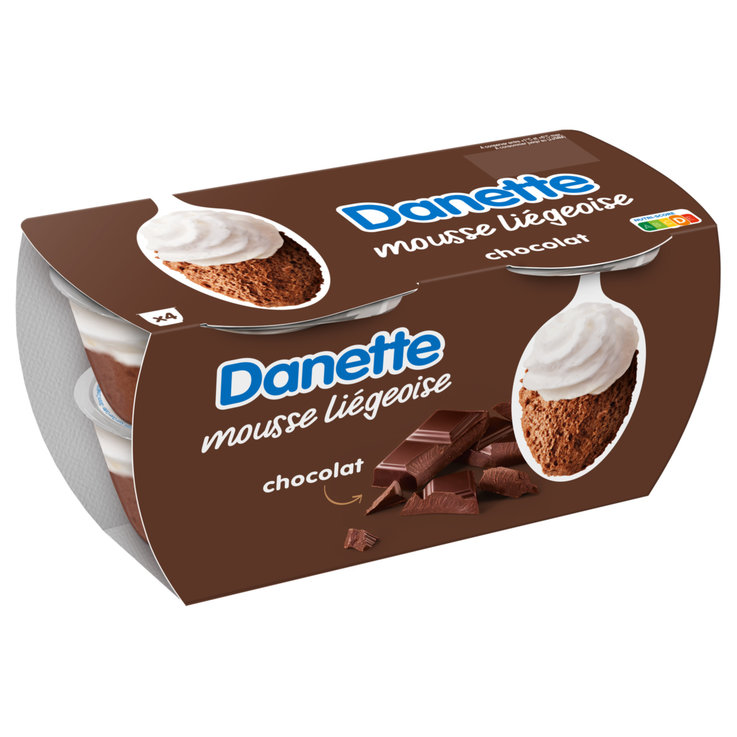 Cream & Mousse - Danone Danette Chocolate Mousse 4x80g