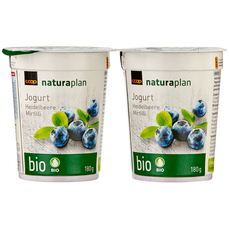 Forest & Garden Berries - Naturaplan Organic Blueberry Yogurts 2x180g
