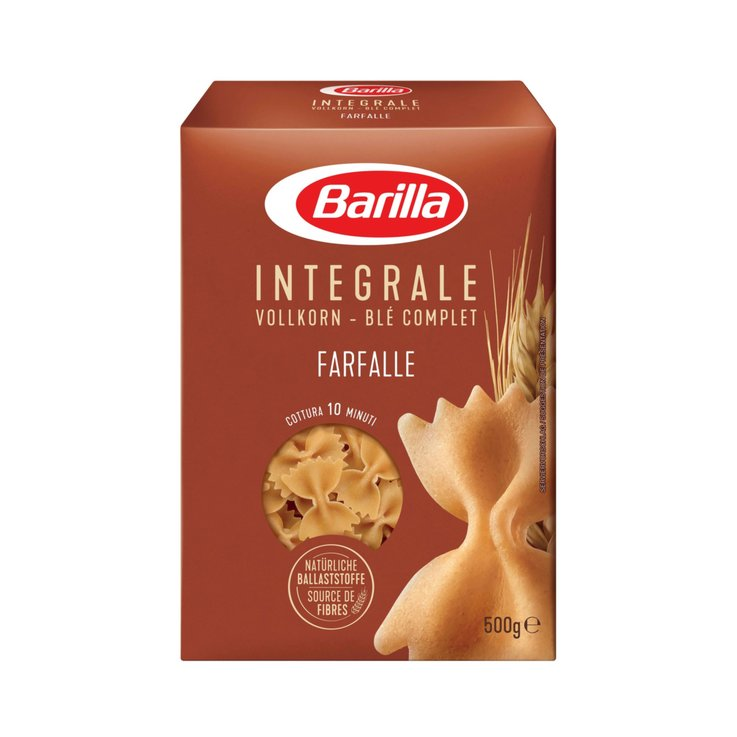 Wholegrain Pasta Products - Barilla Integrale Farfalle Whole Wheat Pasta