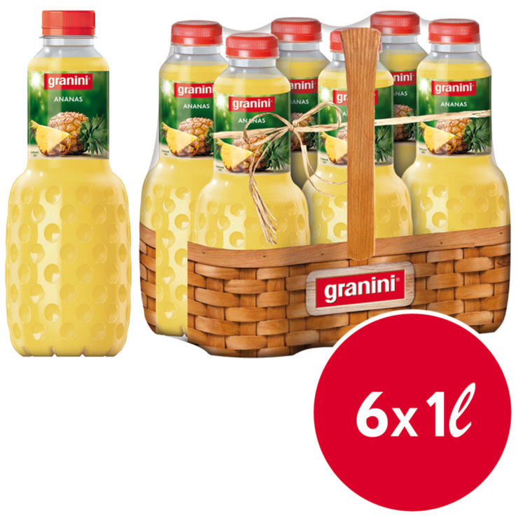 Other Fruit Juices - Granini Pineapple Juice 6x1l