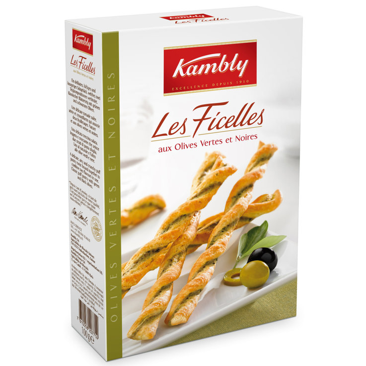 Breadsticks & Pastry Snacks - Kambly Les Ficelles with Olives