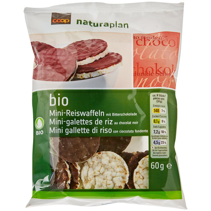 Rice Cakes - Naturaplan Organic Mini Rice Cakes with Dark Chocolate