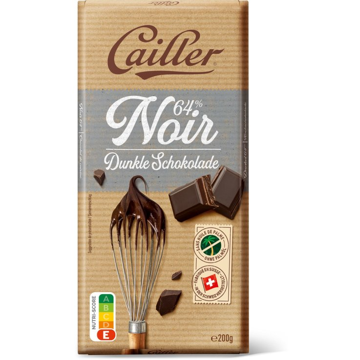Cooking Chocolate - Cailler Dessert 64% Cocoa Chocolate Bar