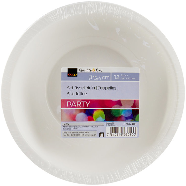 Disposable Party Ware - Small White Plates 12 Pieces