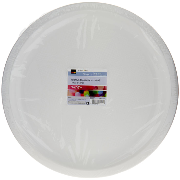 Plate - Round White Plates 29cm 12 Pieces