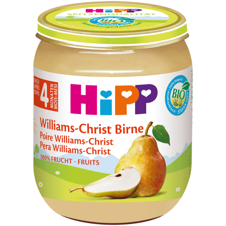 Fruity Baby Food - Hipp Organic Williams-Christ Pear Puree 4 Months+