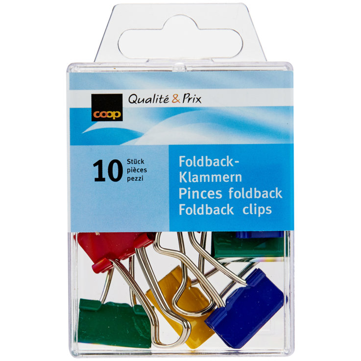 Office Supplies - Foldback Klammern 10 Stk.
