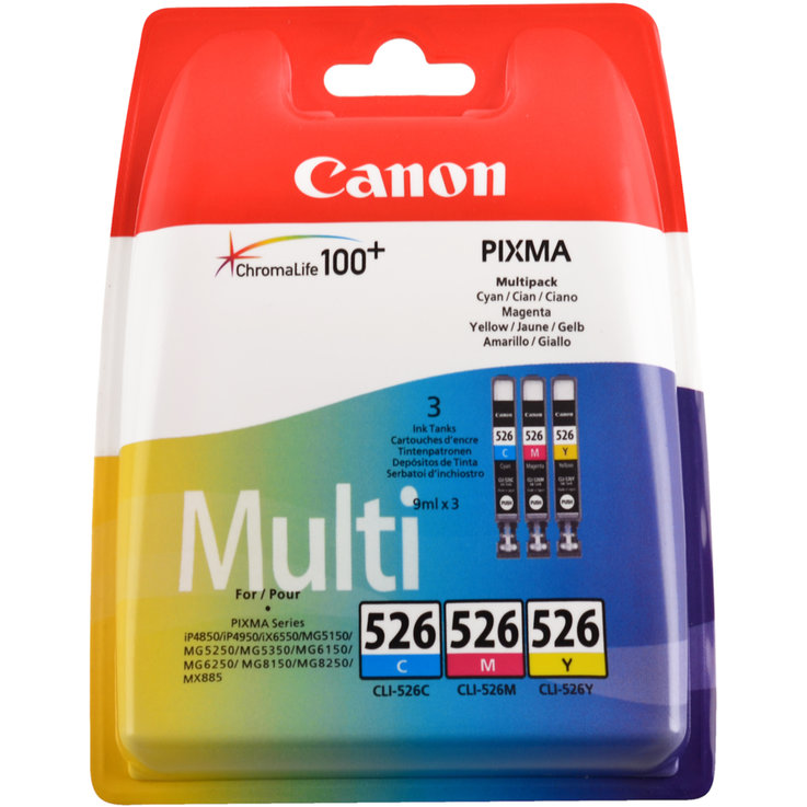 Canon - Canon CMY Ink Cartridge CLI-526PA