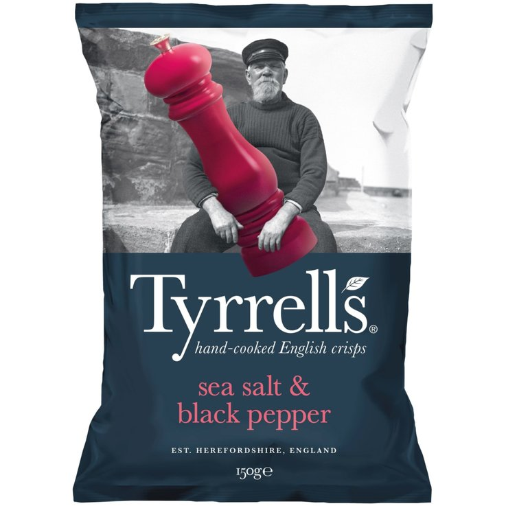 Special Crisps - Tyrrells Chips Salt & Black Pepper