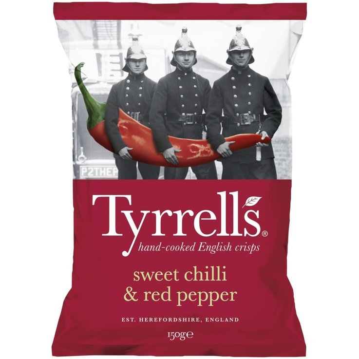 Paprika & Chili Chips - Tyrrell's Chips Chilli & roter Pfeffer