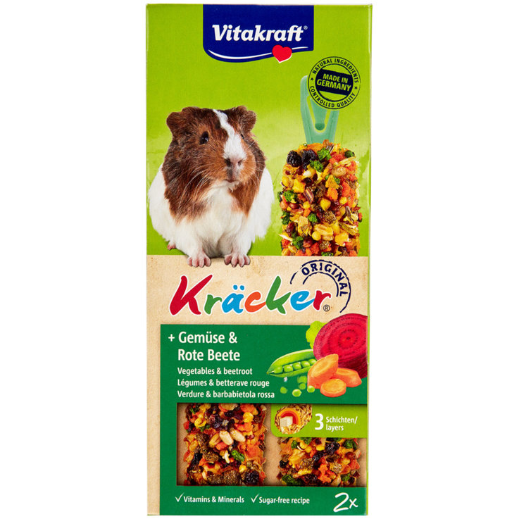 Guinea Pigs - Vitakraft Kräcker® Vegetables & Beetroot for Guinea Pigs Pack of 2