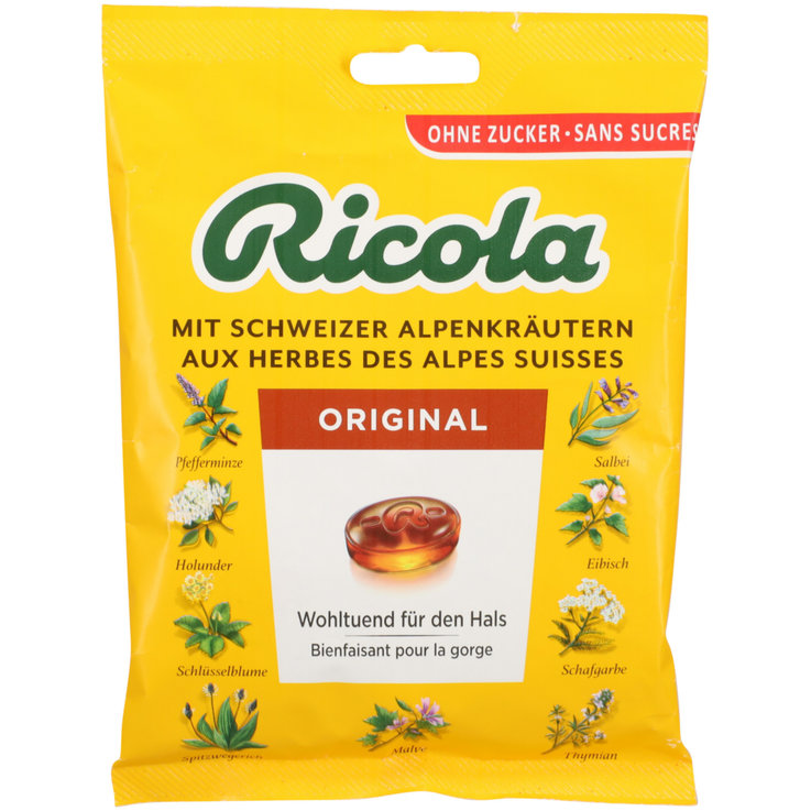 Herbal & Cough Sweets - Ricola Sugarfree Herb Lozenges