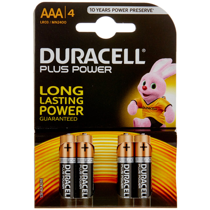 AAA - Duracell Piles Plus Power AAA/LR03 4 pièces