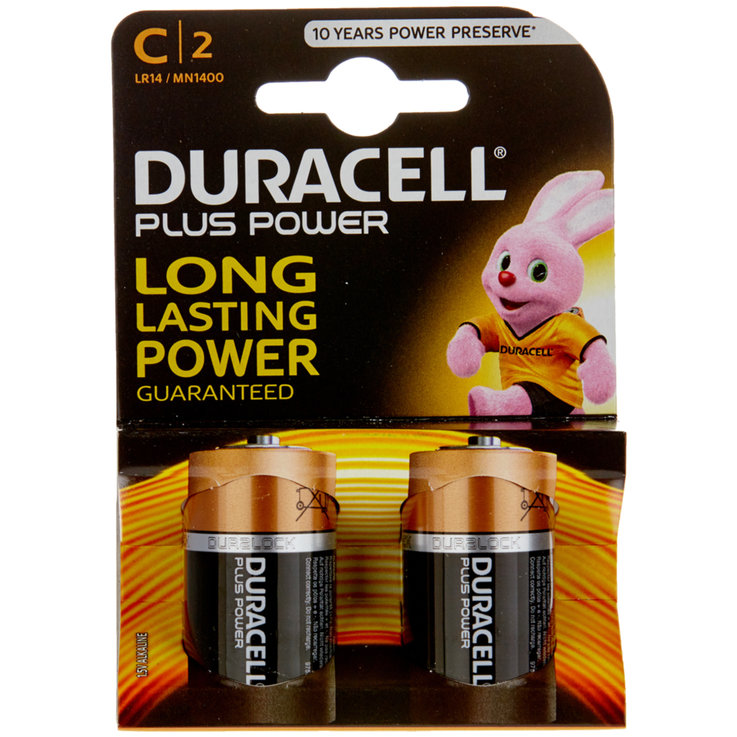 Altre batterie - Batterie Duracell Plus Power, C/LR14, 2 pz.