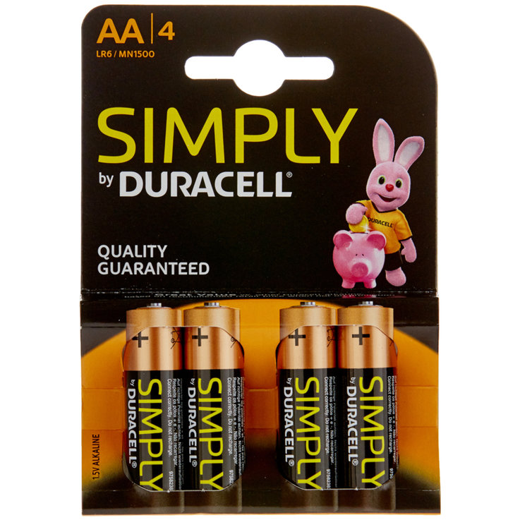 AA - Batterie Duracell Simply AA/LR6, 4 pz.