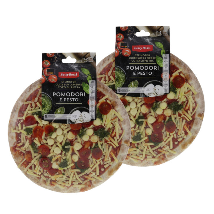 Pizze fresche - Betty Bossi Pizza pomodori e pesto 3x  420g
