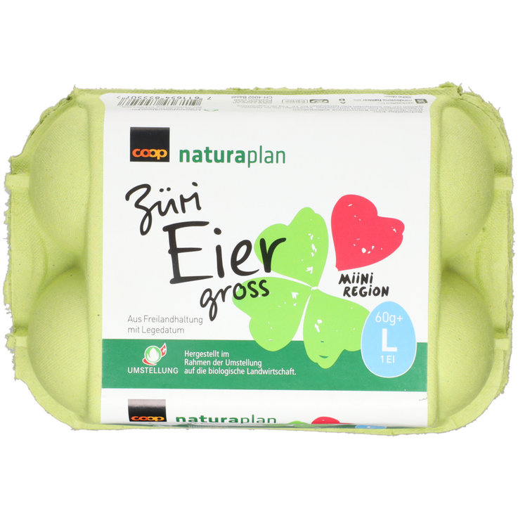 Raw Eggs - Naturaplan Organic Zurich Region Eggs 60g+ 6 Pieces