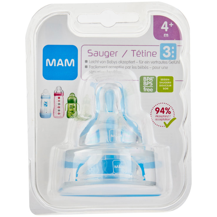 Baby Bottles & Accessories - MAM Silicone Teat Size 3 4 Months+