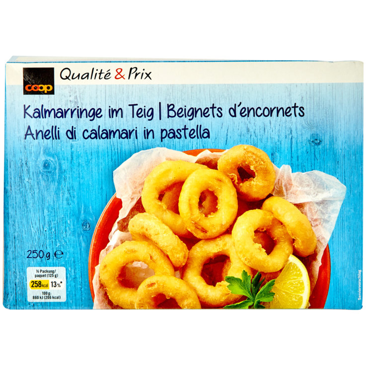 Shellfish & Seafood - Frozen Deep Fried Squid Rings