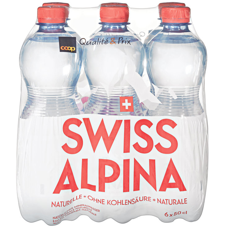 Multipacks under 1 Liter - Swiss Alpina Red Natural Mineral Water 6x50cl