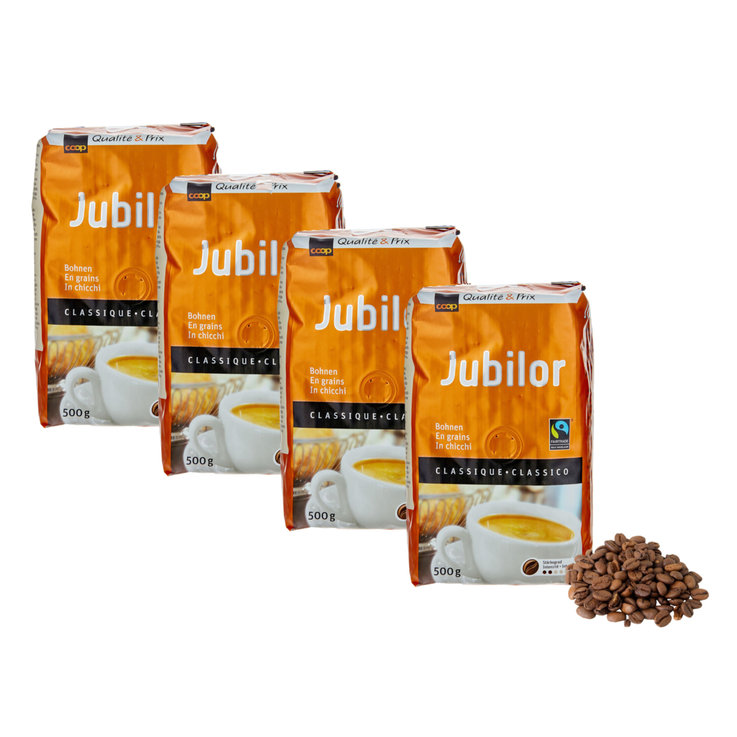Bohnenkaffee - Fairtrade Jubilor Bohnenkaffee 4x  500g