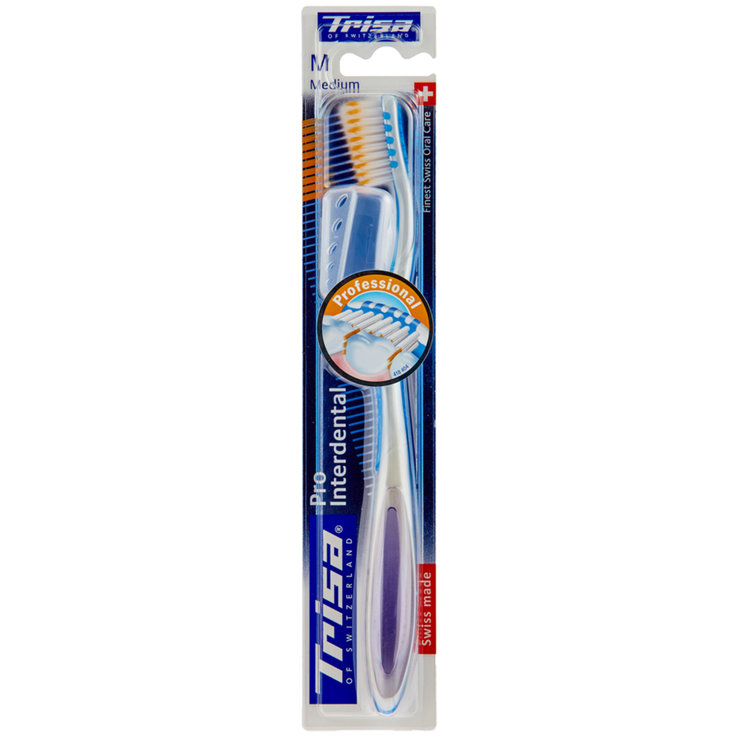 Brosses à dents pour adultes - Trisa Brosse à dents Pro Interdental medium assortis