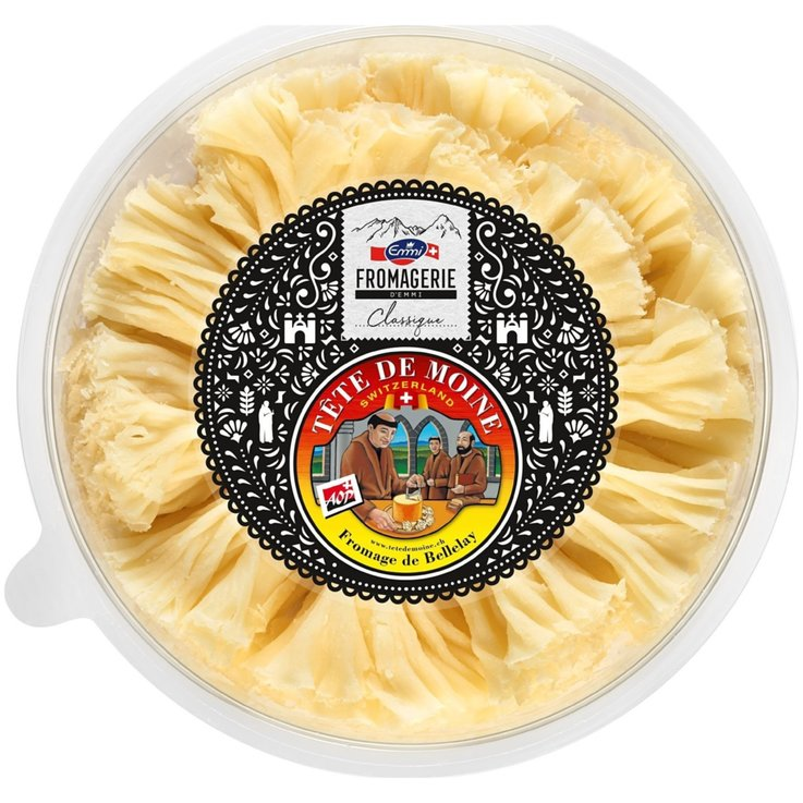 Cheese Snacks & Appetizers - Emmi Tête de Moine Cheese Shavings