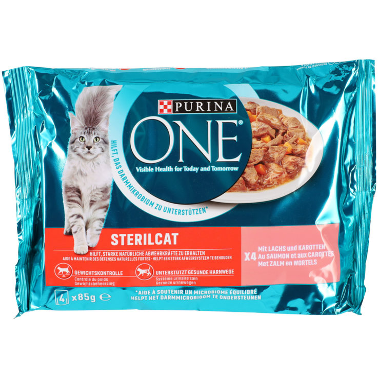 Wet Food - One Sterilcat Salmon Cat Food in Sauce 4x85g
