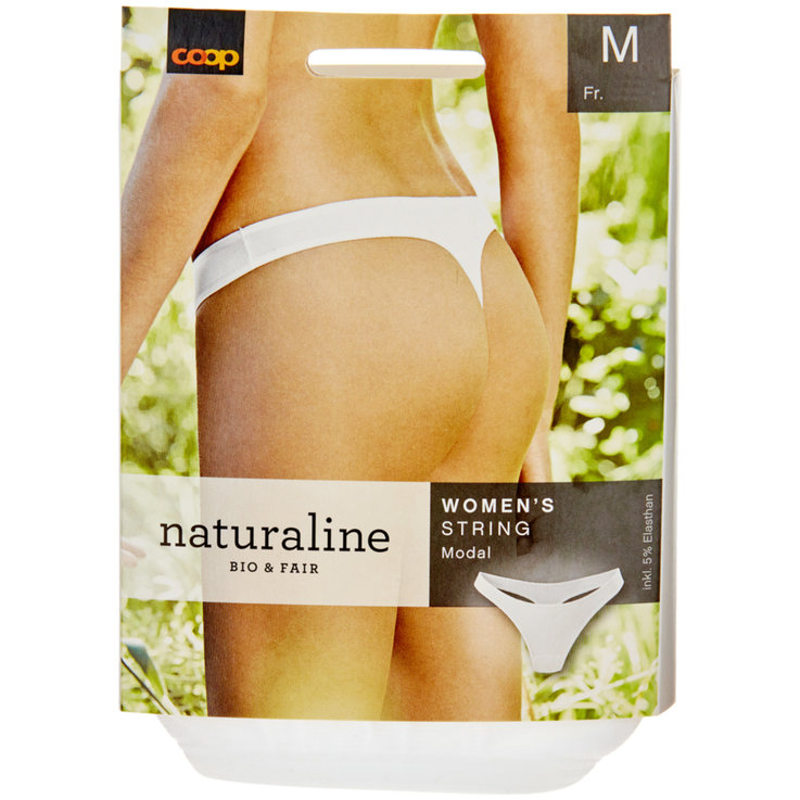 Underwear - Naturaline Women's M White String