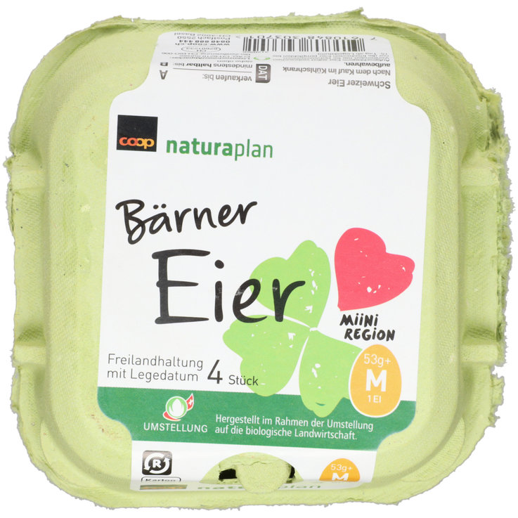 Raw Eggs - Naturaplan Organic Bern Region Eggs 4 Pieces