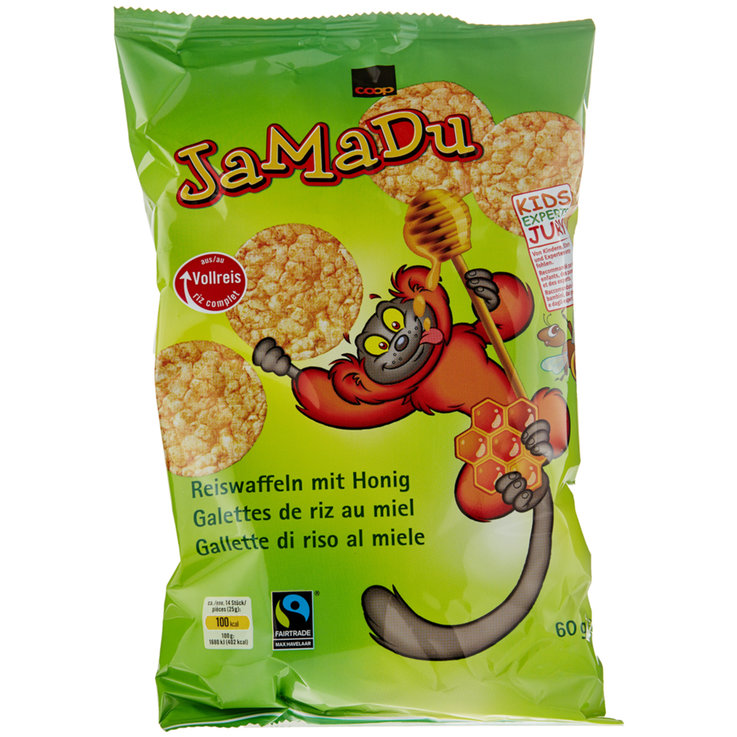 Rice Cakes - Fairtrade JaMaDu Mini Honey Rice Cakes