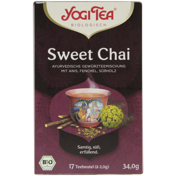 Spiced Tea & Chai & Rooibos - Yogi Tea Organic Sweet Chai Tea 17 Bags