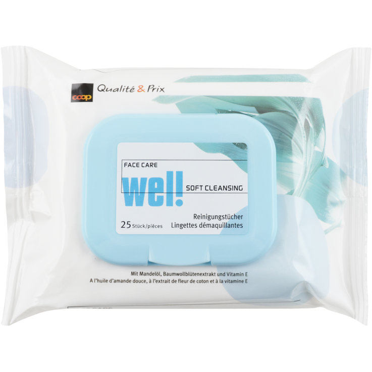Cleansing Wipes - Wel! Face Care Makeup Removing Wipes 25 Pieces