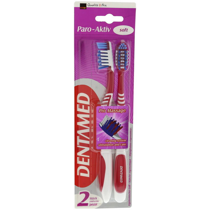 Toothbrushes for Adults - Dentamed Paro Active Soft Toothbrushes 2 Pieces