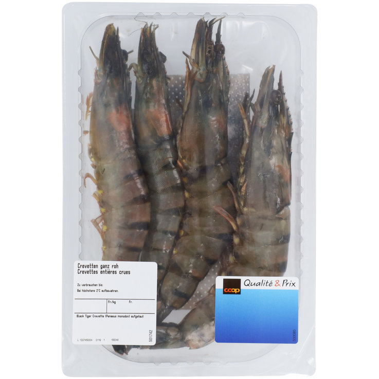 Shellfish & Seafood - Whole Raw Shrimp ca. 200g