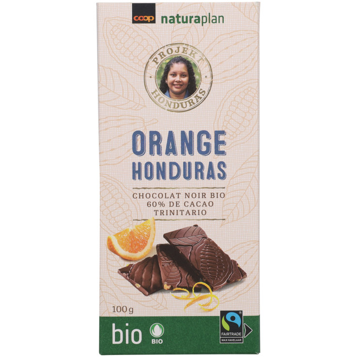 Dark - Naturaplan Organic Fairtrade 60% Cocoa Orange Dark Chocolate Bar