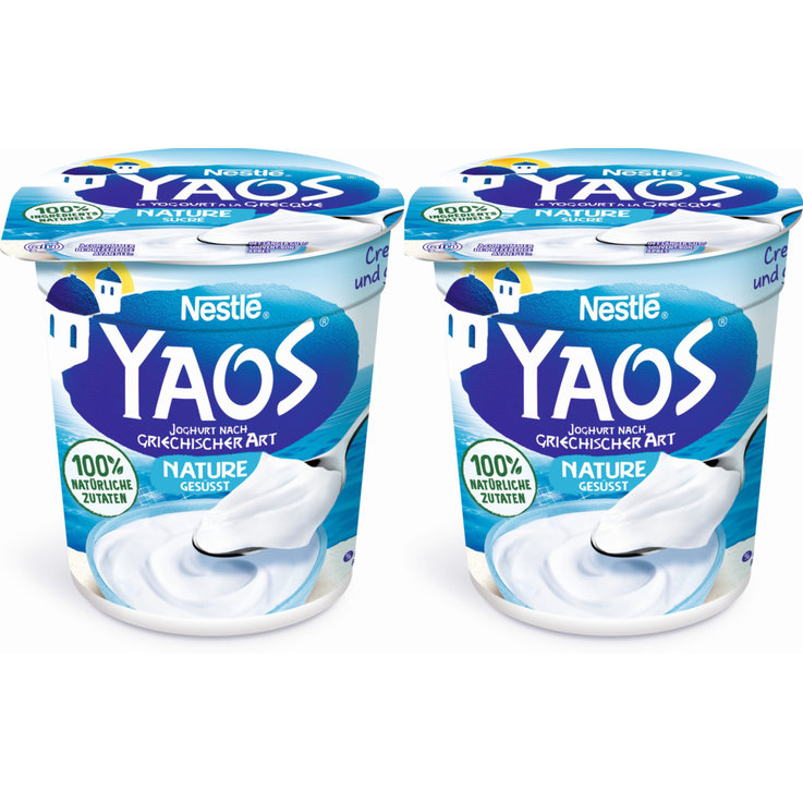 Natural Yogurt - Yaos Natural Greek Yoghurt 2x150g