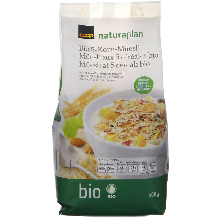 Muesli without Chocolate - Naturaplan Organic 5-Grain Muesli