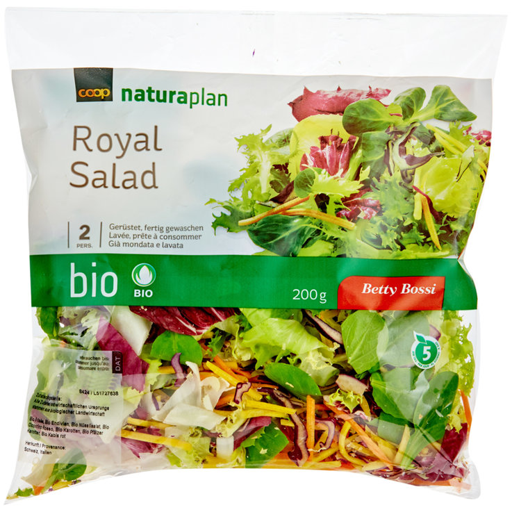 Pre-Packaged Fresh Salads - Naturaplan Organic Betty Bossi Royal Salad