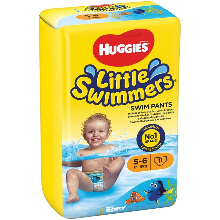 11 - 27 kg - Huggies Size 5-6 Little Swimmers Diapers 12-18kg 11 Pieces