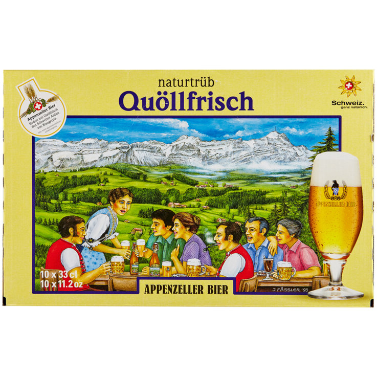 Beer Multipacks - Appenzeller Quöllfrisch Unfiltered Beer 10x33cl