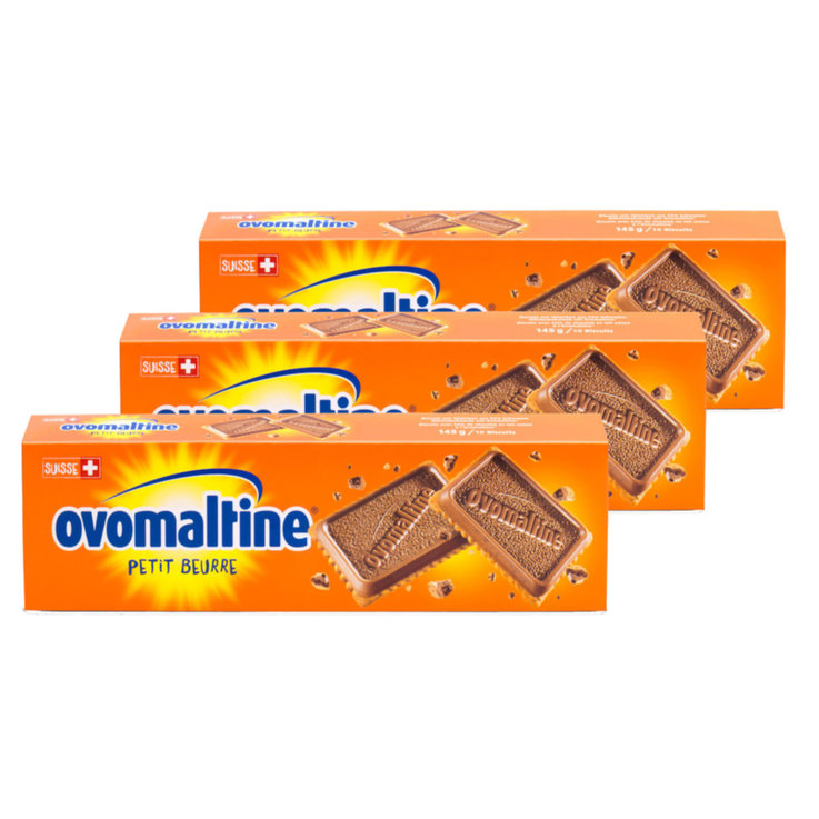 Chocolate Covered - Ovomaltine Chocolate Petit Beurre Cookies 3x  145g