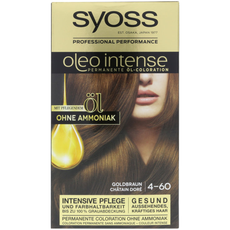 Brown & Black - Syoss Oleo Intense Golden Brown 4-60 Hair Dye