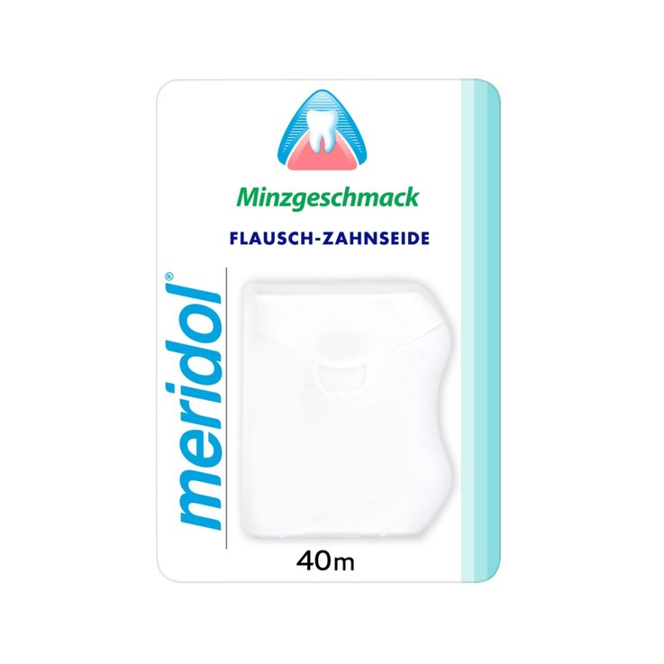 Dental Floss & Sticks - Meridol Waxed Dental Floss 40m