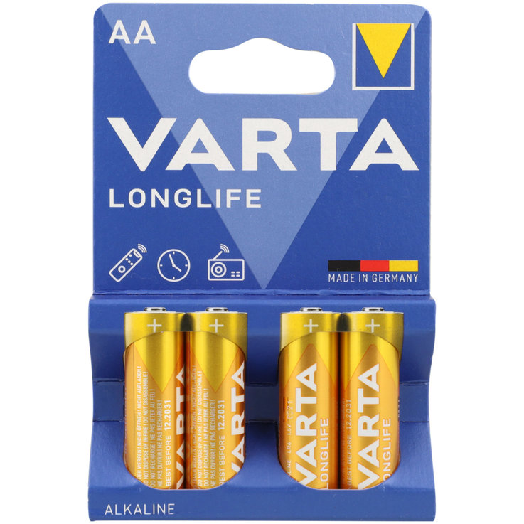 AA - Varta Longlife Extra AA/LR6 Batteries 4 Pieces
