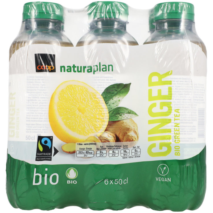 Multipack sotto 1 litro - Naturaplan Ginger Green Tea bio