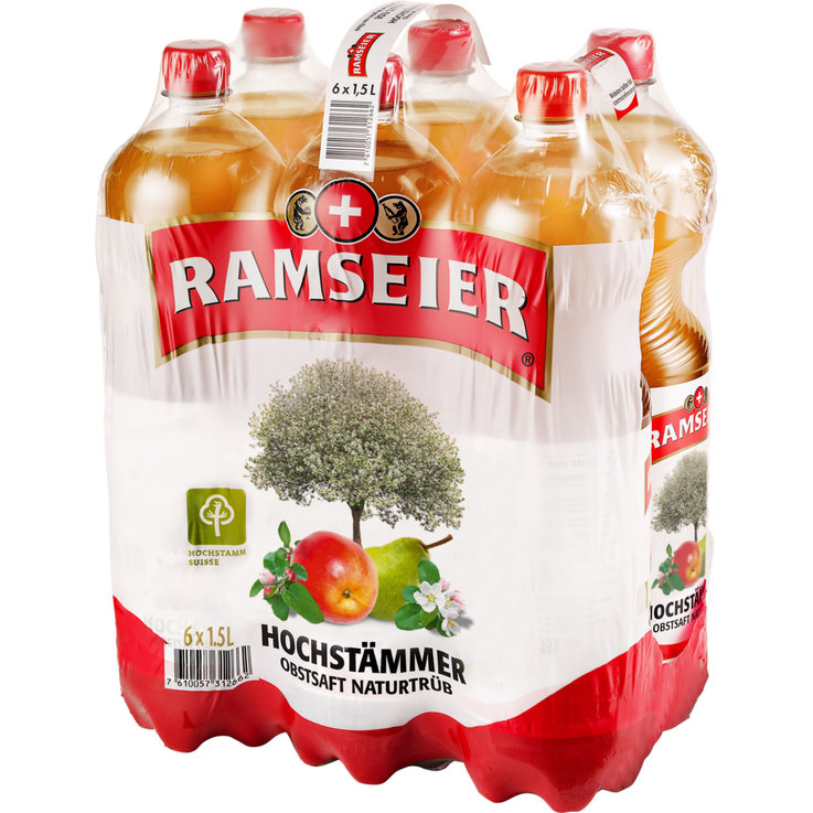 Apple Drinks & Must - Ramseier Upper Branches Non-Filtered Apple Pear 6x1.5l