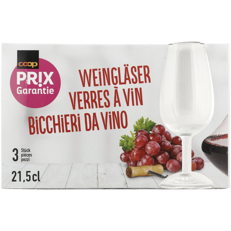 Household & Kitchen - Prix Garantie Wine Glasses 3 Pieces